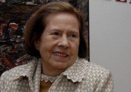 Maria Coussirat Camargo, viúva de Iberê Camargo