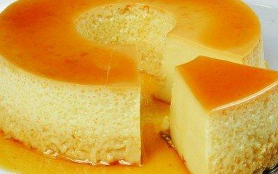 Pudim de coco e laranja