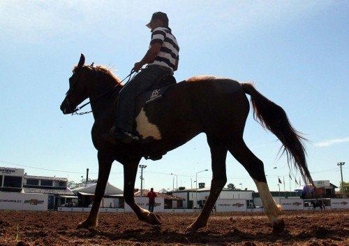 Provas a cavalo tamb�m fazem parte das atra��es do evento