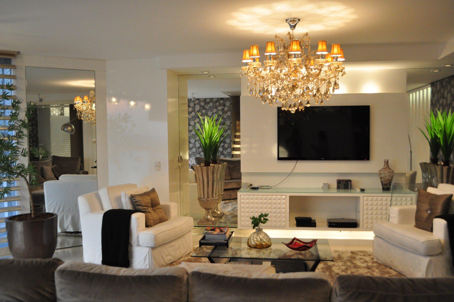 Arquitetos Uniram Apartamento E Cobertura Em S O Leopoldo Veja Como  -> Luminarias De Parede Para Sala De Estar