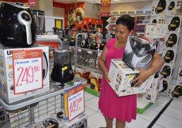 Danielle: conseguiu comprar mais do que havia planejado