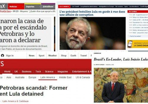 Detenção de Lula é destaque na imprensa internacional