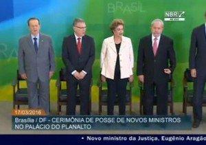 Dilma empossou Lula e os titulares da Aviação e Justiça