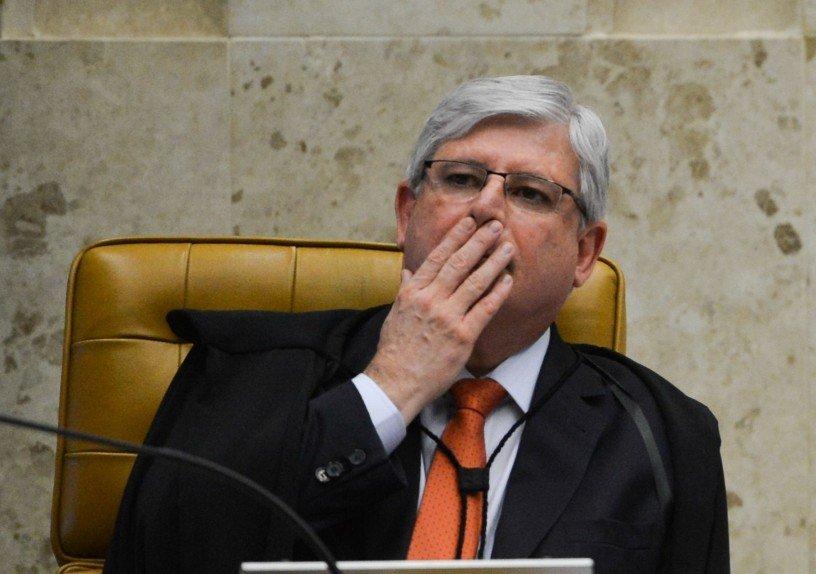 O procurador-geral da República (PGR), Rodrigo Janot, durante sessão do STF