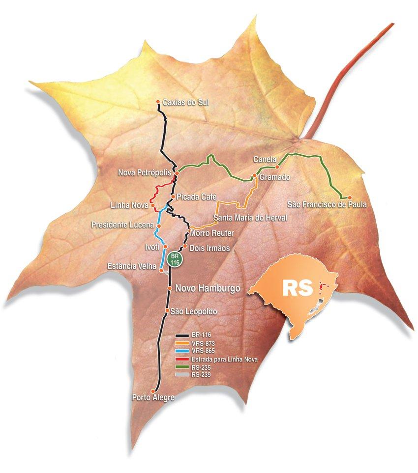 Mapa Rota Romantica