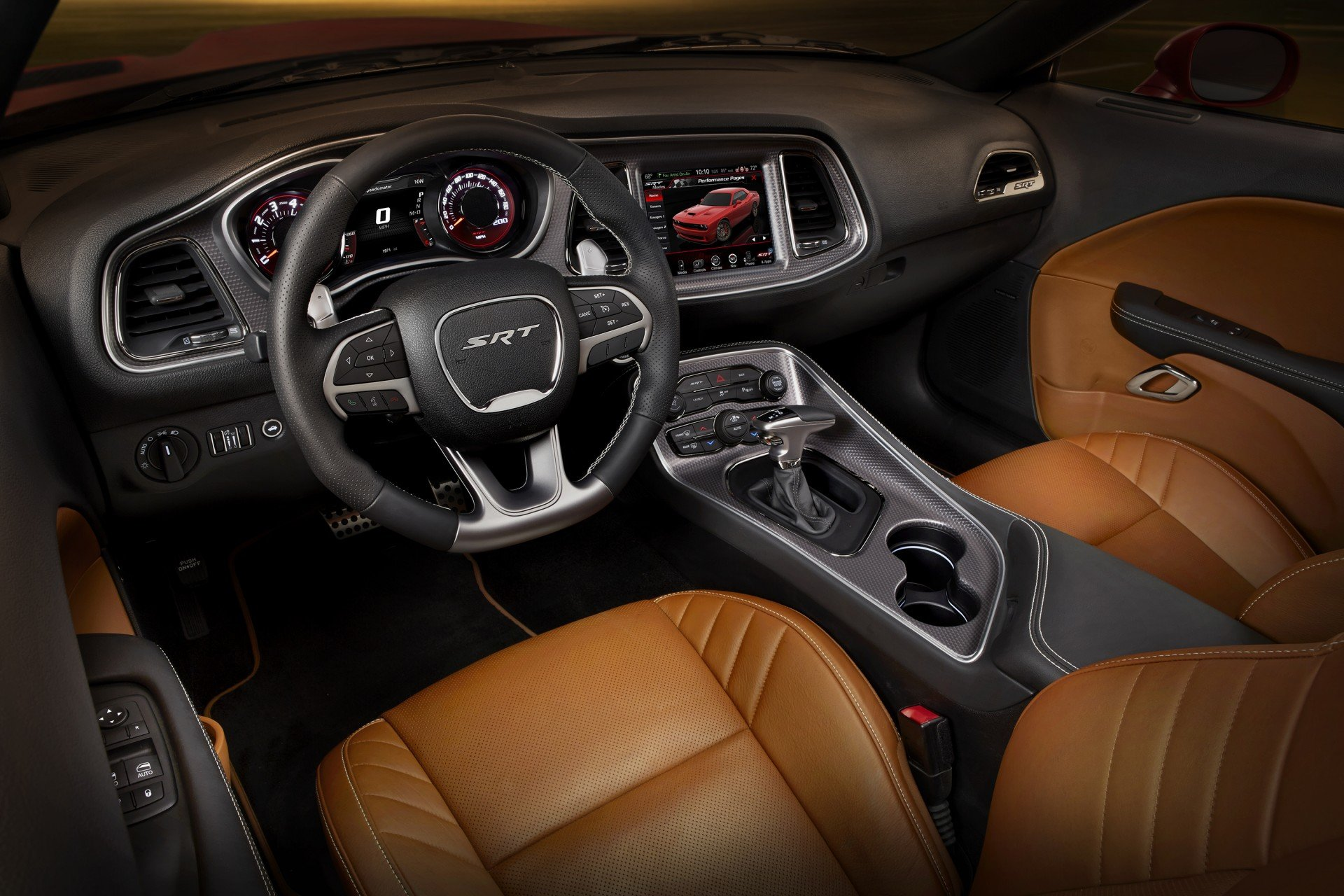 2016 Dodge Challenger SRT Hellcat - Sepia Laguna leather