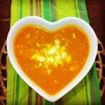 sopa coração