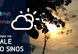 Possibilidade de chuva e temperatura amena nesta quarta-feira na região