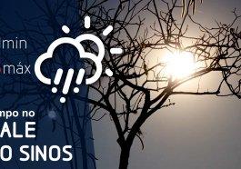 Sexta-feira de calor e possibilidade de chuva na região