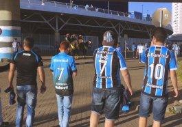 Veja como foi a movimentação dos torcedores durante o dia na Arena do Grêmio