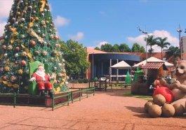 Papai Noel foi conferir decoração do Natal da Integração em Campo Bom