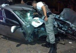 Foi feia a batida: fuga dos criminosos terminou em uma árvore no bairro Marechal Rondon