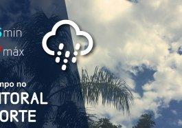 Quinta-feira de calor e pancadas de chuva na região