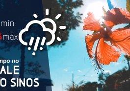 A sexta-feira terá chuva e temperaturas mais baixas na região