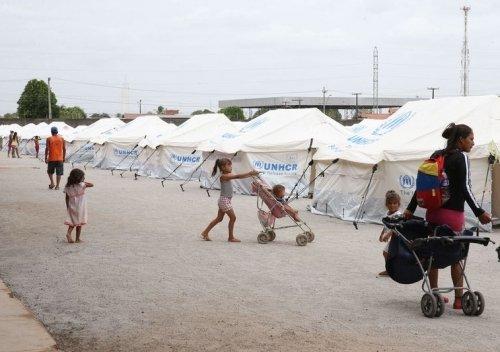 Boa Vista (RR) - Acampamento de refugiados venezuelanos