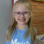 Sofia Rohr Lang, 5 anos, estudante da educação infantil do Colégio Marista Pio XII