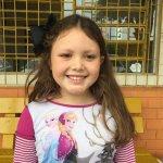 Laiane Tazi de Oliveira, 8 anos, estudante do 2º ano da Escola Hugo Engelmann