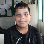 João Vitor de Aguiar, 11 anos, estudante da Arnaldo Grin