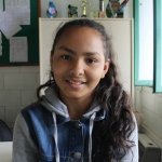 Eduarda Carolina dos Santos Pereira, 12 anos, estudante da Arnaldo Grin