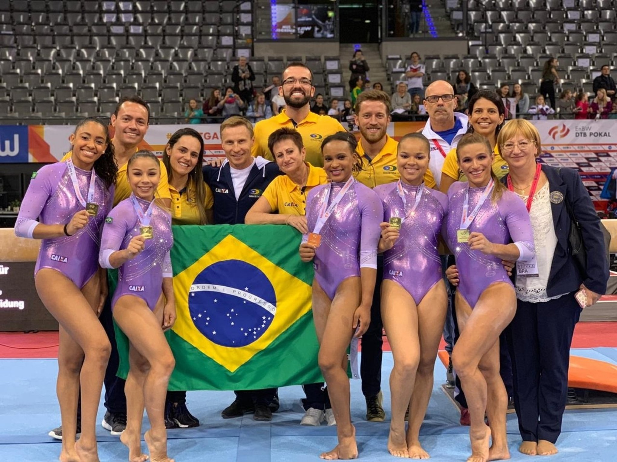 Resultado de imagem para seleção feminina triunfou na disputa por equipes no DTB Pokal Team,