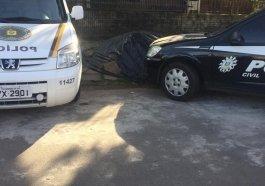 BM e Polícia Civil no local do crime em Campo Bom