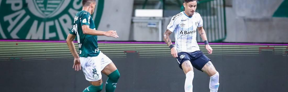 Grêmio e Palmeiras empatam por 1 a 1 pelo Brasileirão