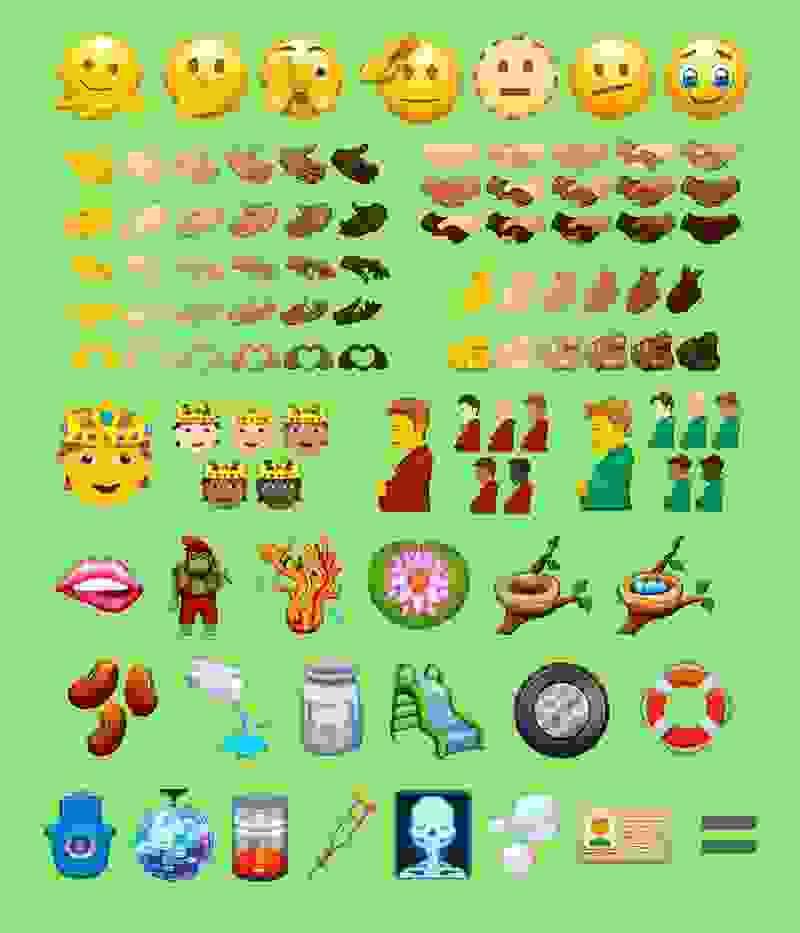 Emojipedia divulgou exemplares aprovados no pacote Emoji 14.0