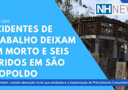 AO VIVO: Acidentes de trabalho deixam um morto e seis feridos em São Leopoldo